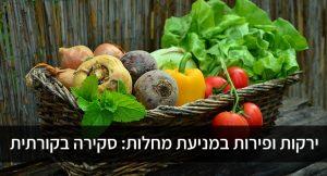ירקות ופירות במניעת מחלות: סקירה בקורתית