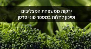 ירקות ממשפחת המצליבים וסיכון לחלות במספר סוגי סרטן