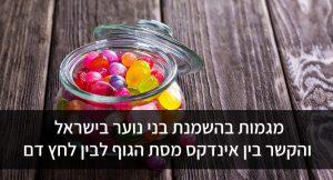 מגמות בהשמנת בני נוער בישראל והקשר בין אינדקס מסת הגוף לבין לחץ דם
