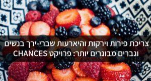צריכת פירות וירקות והיארעות שברי-ירך בנשים וגברים מבוגרים יותר: פרויקט CHANCES