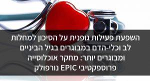 השפעת פעילות גופנית על הסיכון למחלות לב וכלי-הדם במבוגרים בגיל הביניים ומבוגרים יותר: מחקר אוכלוסייה פרוספקטיבי EPIC נורפולק